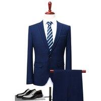Loldeal 2018 Homens de Negócios Terno Ternos Blazers Slim fit Masculino Clássico de Luxo Homens Terno de Dois Botões 2 Peças (Terno jaqueta + calça)