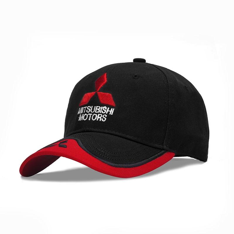 2019 New Fashion 3D Embroidered Mitsubishi Hat Cap Car logo MOTO GP Racing F1 Baseball Cap Hat Adjustable Casual Trucket Hat|Men