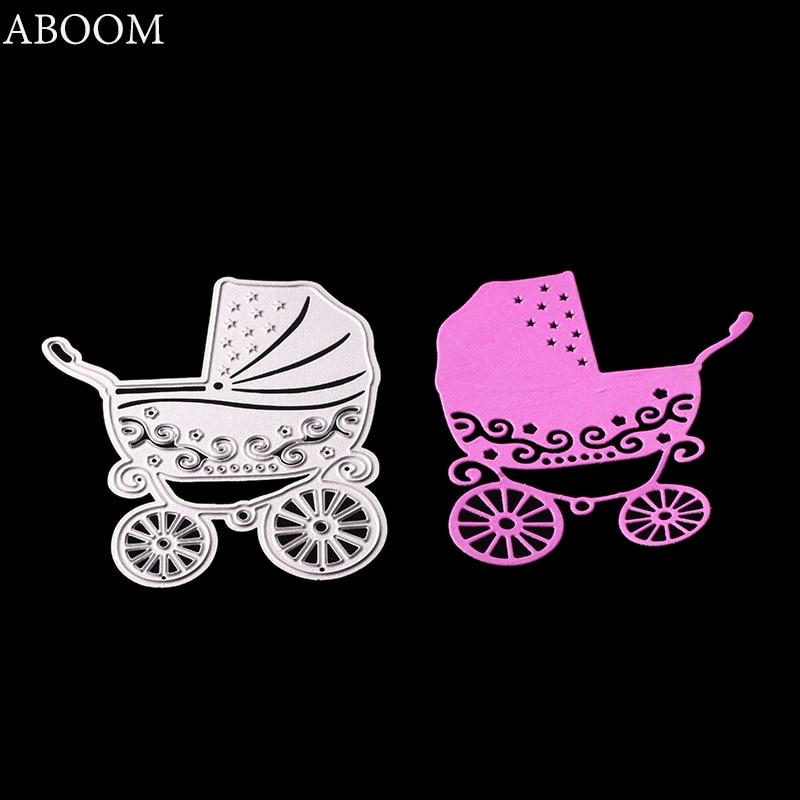 ABOOM 1PC Hot Sale Baby Carriage Metal Carbon Steel Die Cut Embossing Folder Decorative Scrapbooking Album Cutting Dies Template