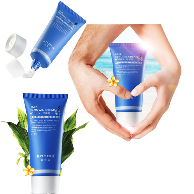 Koogis Tóc kem tẩy lông sử dụng cho Khuôn Mặt pudendum chân cánh tay nách Nách tóc cơ thể chăm sóc da trang điểm cho phụ nữ người đàn ông 60 gam/cái
