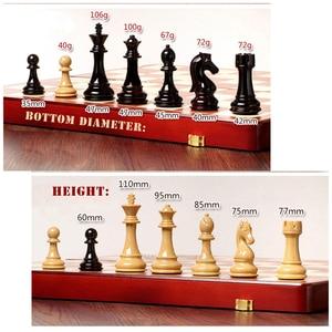 Image 2 - בדרגה גבוהה פלסטיק שחמט הבינלאומי סט שחמט משחק מתנה מתקפל עץ לוח שחמט ABS פלסטיק פלדה שחמט חתיכות צ סמן I59