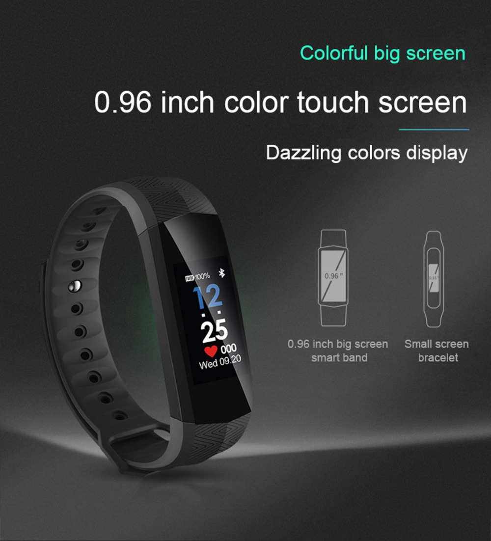 27109d087 Cycling Smart Bracelet GPS Sports Positioning Bluetooth Heart Rate Monitor  Waterproof Counter USB Charging Fitness Tracker ...