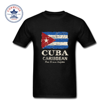 2017 Hot sale Fashion Clothes Casual New Flag Of Cuban Cuba Flag Cotton funny t shirt for men short sleeve