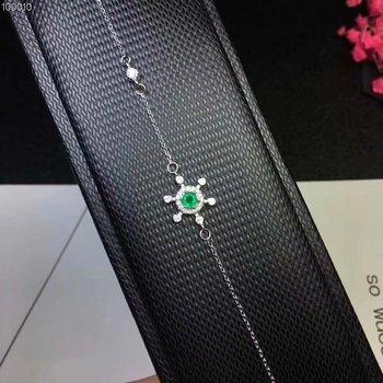 Natural emerald bracelet 925 sterling silver bracelet Fashion style Emerald bracelet Precious stones
