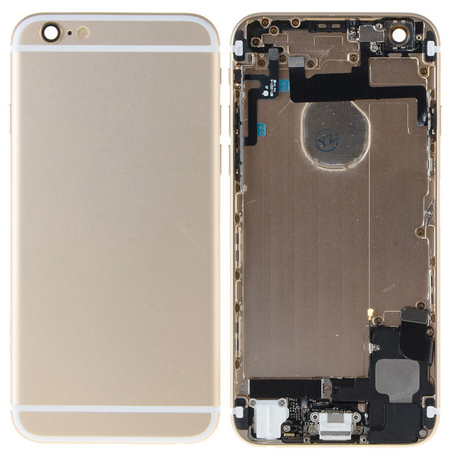 Chassis Full Parts for iPhone 6 Middle Frame Bezel Midframe Housing Battery Door Rear Case Cover for iphone 6 W0D02 T18 0.4