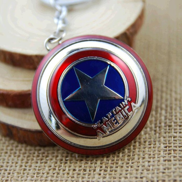 Marvel Captain America Shield Keychain (2 Colors)  3