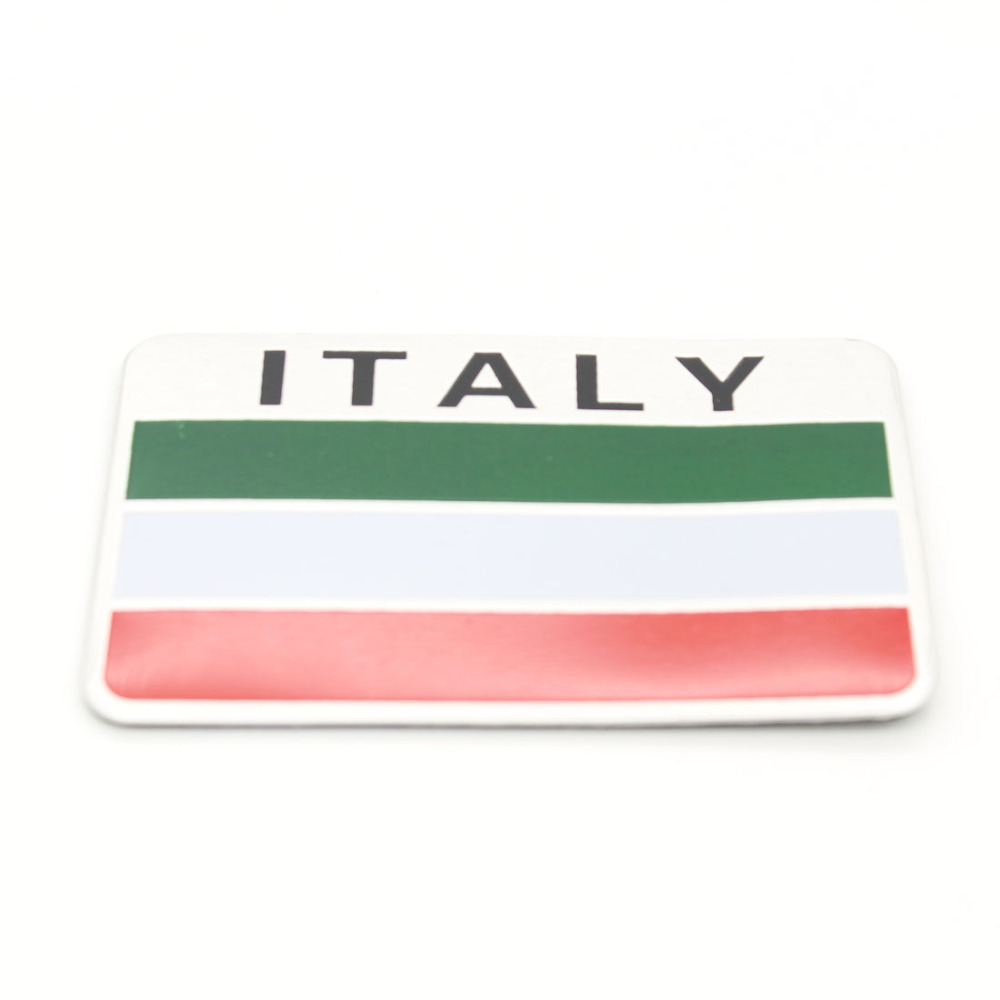 Dongzhen Auto Car Styling 3d Aluminum Italy Flag Sticker Dome Lamp Dimmer By Lm358 Accessories Fit For Ford Audi Bmw Vw Volkswagen Benz