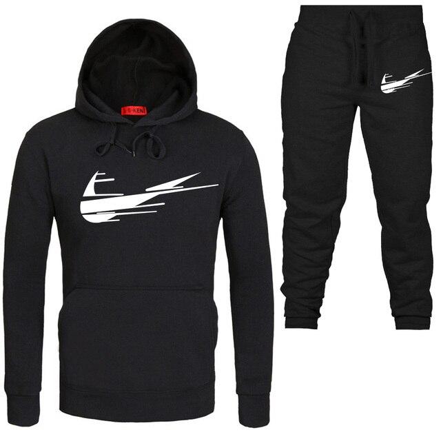 2874cc07 2019 Brand New Print Sportswear Hoodies suit Men's Sweatshirt Male Hooded  Fashion leisure Hoodie Pullover Hoody clothing s xxxl-in Hoodies &  Sweatshirts ...