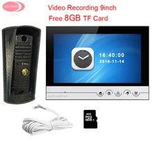 "Cheaper Home Security Apartment 9 "" Monitor Video Door Phone Night Vision Metal Waterproof Camera Video Intercom System Door Monitor Kit"