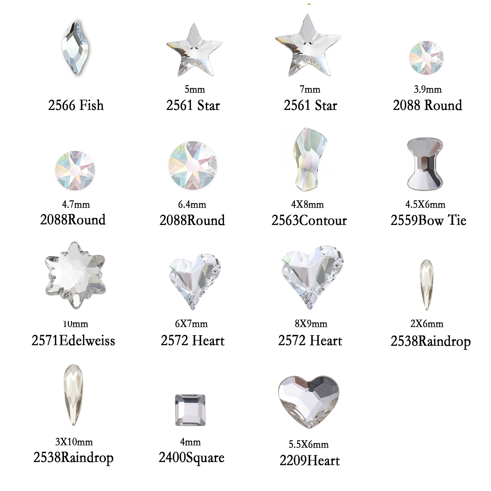 Shiny 1,2mm Kristall Pixie AB Klarglas Micro Strass für Nägel ...