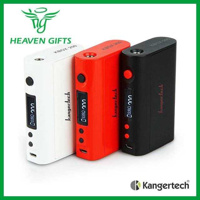 100% Original Kangertech KBOX MOD TC 200 W Soporta Ni/Ti/SS/NiCr Bobinas con Pantalla LCD pantalla e-cigarrillo Mod Cuadro