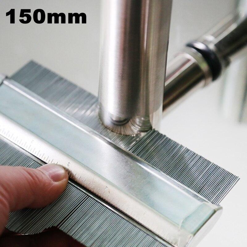 150mm perfil de acero al carbono medidor de contorno Plantilla de decoración profunda revestimiento de Metal de acero laminado en forma de madera