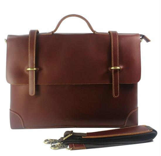 Real Leather Men briefcase portfolio men genuine leather briefcase handbag business bag laptop bag office attache case document