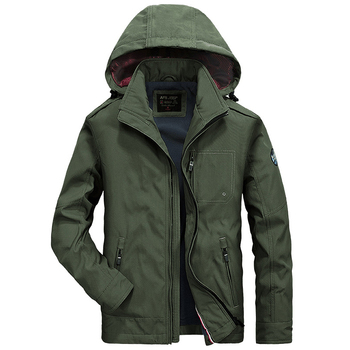 Brand New Jacket Men Military Jackets Coats Outwear Fleece Coat Solid Wide-waisted Men's Jackets Hooded Jaqueta Masculina M-4XL