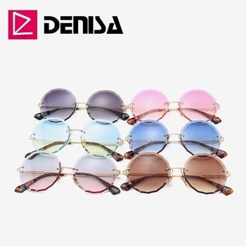DENISA Rimless  Round Sunglasses  5