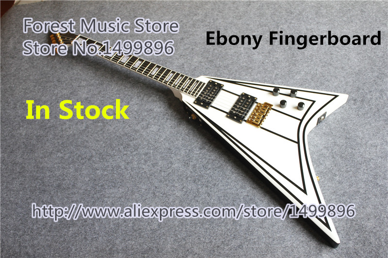 Hot Selling Randy Rhoads Jackson Flying V Electric Guitars Ebony Fretboard Guitar Neck In Stock 12mp 940nm digital trail camera trap hc300m mms gsm night vision no flash wireless hidden hunting video camera photo traps