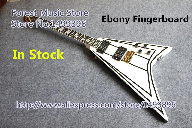 Hot Selling Randy Rhoads Jackson Flying V Electric Guitars Ebony Fretboard Guitar Neck In Stock china custom guitar factory electric guitar flying v standard dot inlay in stock for sale