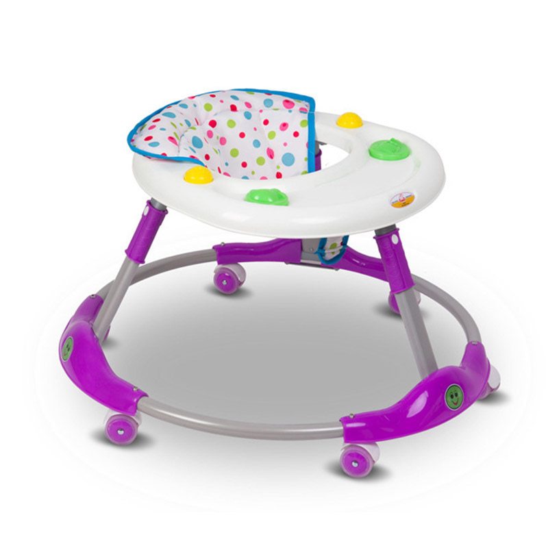 High Quality Baby Walker Round Foldable Safety Toddler Anti-rollover Walk Learning Multiuse Toy Comfortable Seat Cushion