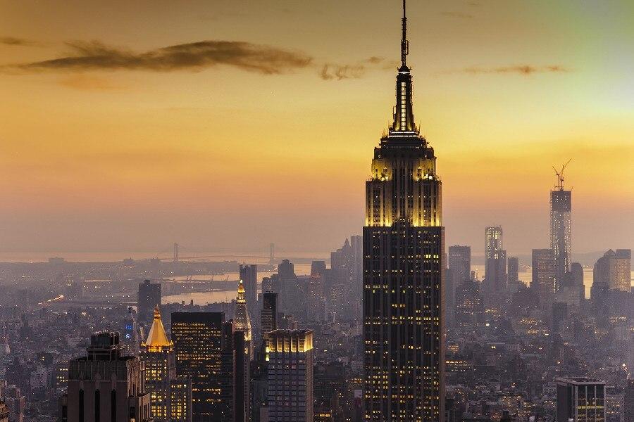 DIY frame 2PCS CHOOSE Manhattan, Empire State Building, New York ...
