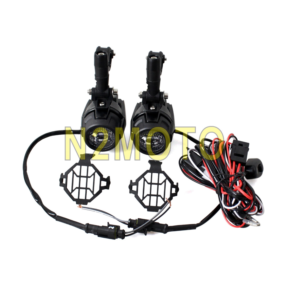 small resolution of for bmw r1200 gs motorcycle led spotlight headlight grill guard driving fog light wiring harness kit