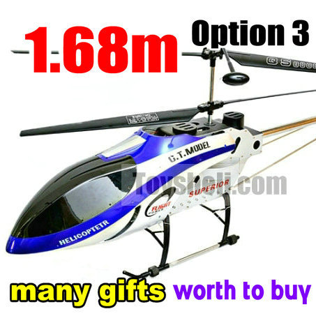 GT model QS8008 newest 3.5 ch biggest 1.68m big size rc helicopter with many gifts (Option 3) ...