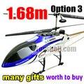Gt QS8008 más nuevo 3.5 ch mayor 1.68 m tamaño grande rc helicóptero con muchos regalos ( opción 3)