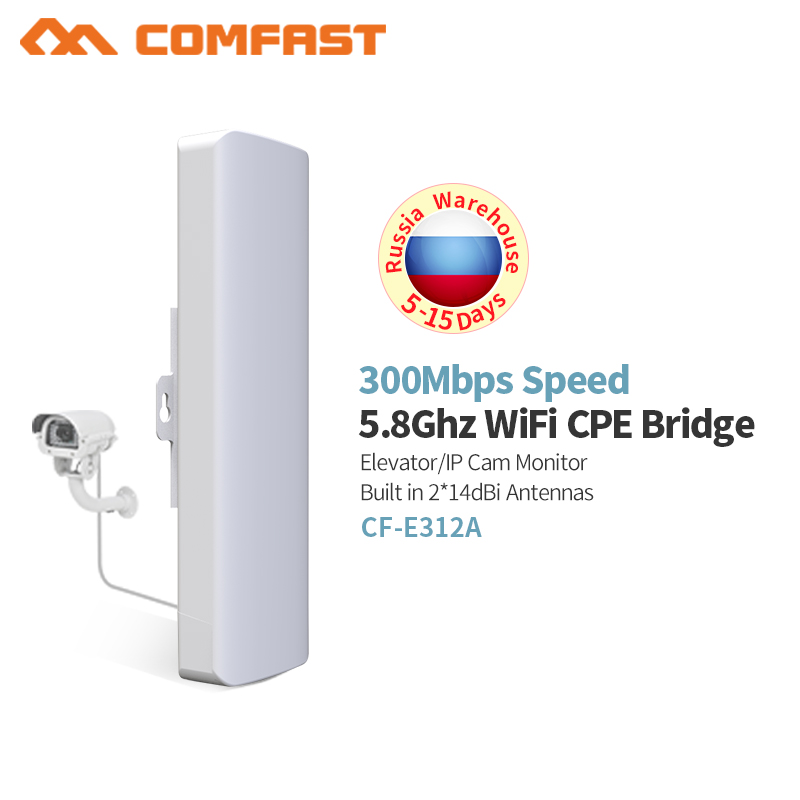 COMFAST CF E312A 300Mbps 5 8Ghz Access Point with 2 14dBi Antenna high power wireless outdoor