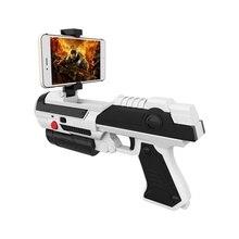 цена на VR Game AR GUN Shooting Game Smartphones Bluetooth Control Toy for IOS Android Air Guns Black&Grey