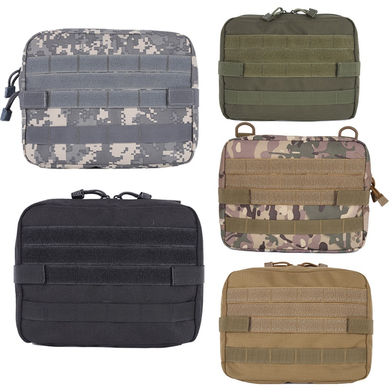 CQC Outdoor Military Large Utility Organizer Tactical Molle Medical Pouch Bag EDC Tool Belt Waist Pack Hunting Camping Hiking
