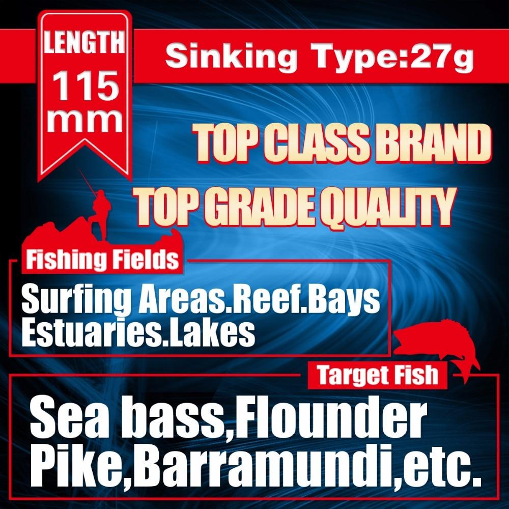 ჩაძირვა MINNOW Fishing 115MM 27G ჩაძირვა - თევზაობა - ფოტო 5