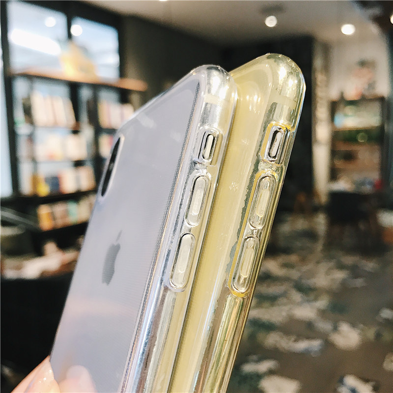 Lovebay For iPhone 7 Phone Case Clear Solid Candy Color For iPhone 11 Pro XS