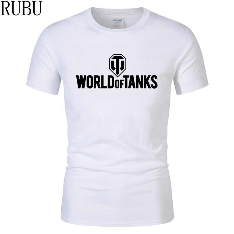 407f5e7cf RUBU Summer Style Funny World Of Tanks War ii T-Shirt Men Short Sleeve T