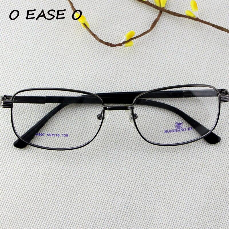 Metal Alloy Rectangular Full Rim Frame 2017 Eyeglasses Glasses Prescription  RX Plus Minus Spectacle Optical Frames 7fd8e84939