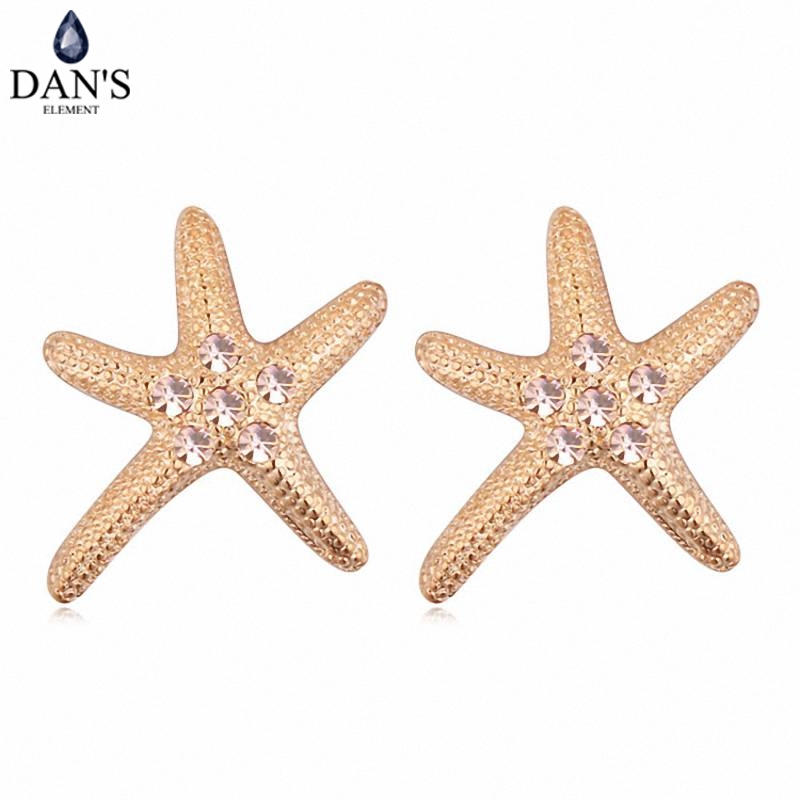 DANS Colors Real Austrian crystals Stud earrings for women Earrings s New Sale Hot Round 115797