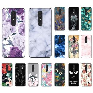 Image 2 - Shockproof Back Telefoon Cover Voor Alcatel 3 (2019) /5053 Cool Modieuze Ontwerp Soft Case Kleurrijke Painted TPU Silicone Cover