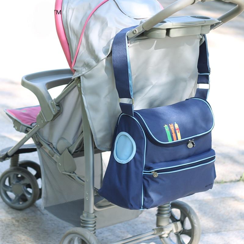 nowa brytyjska moda wodoodporna torba na pieluchy Duża pojemność - Pieluchy i Trenowanie toalety - Zdjęcie 3