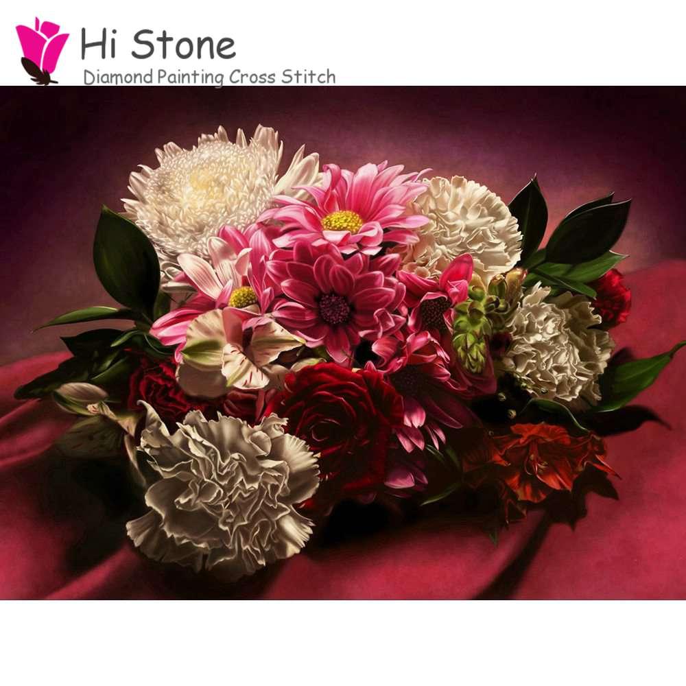 5D поделки алмазов картина цветет мозаика вышивка с бриллиантами мозаичные украшения дома подарок