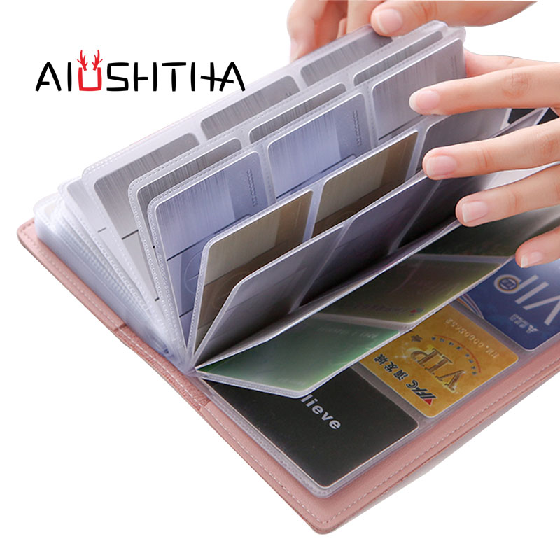 credit card holder women bank credit cards wallet id cardholder leather porte carte tarjetero kaarthouder pasjes houder