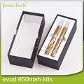 Kits 900 mah Ecig EVOD MT3 Evod Starter Kit Duplo EVOD bateria com 2.4 ml EVOD Atomizador Melhor Atomizador E Cigarro Pen Vaporizador Jomo-77