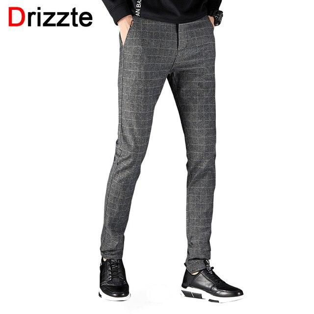 8ce38f8639ac Drizzte Mens Suit Pants Korean Casual Slacks Slim Fit Dress Pants for Men  Black Grey Business