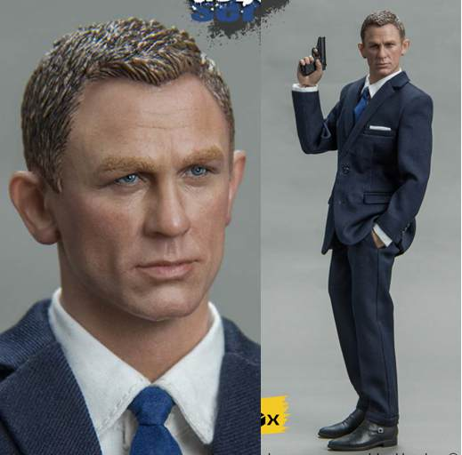 1:6 scale Super flexible figure Agent 007 James Bond Daniel Craig in suit 12 action figure doll Collectible Model plastic toys james bond agent 007 ocean royale m edt spr 75 мл тестер