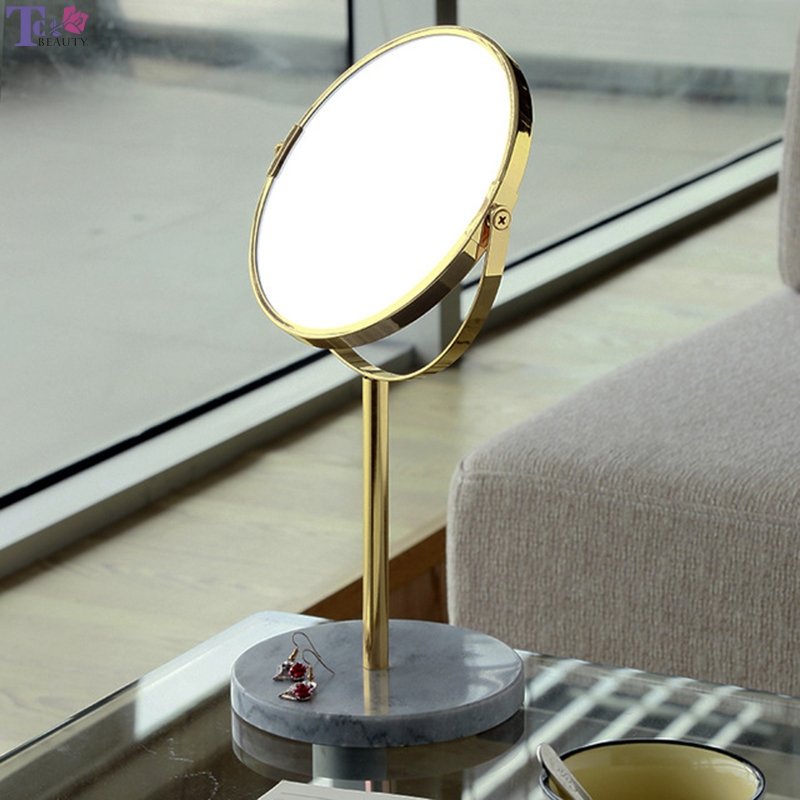 Makeup Mirror Desktop Mirror Triple Magnification Metal Marble Production Vanity Mirror The Best Christmas Gift For