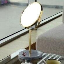 Зеркало для макияжа настольное зеркало с тройным увеличением металл + Мраморное производство косметическое зеркало лучший рождественский подарок для девочек