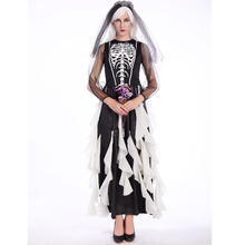 Mexican Necromancer makeup party Bride Skull Clothing Halloween Costume