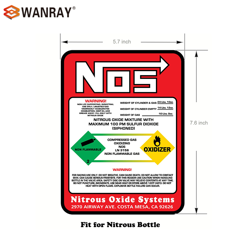 Got NOS Sticker Decal nitrous 2
