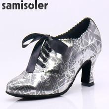 Samisoler Hot selling Women Professional Dancing Shoes Ballroom Dance Ladies Latin heeled