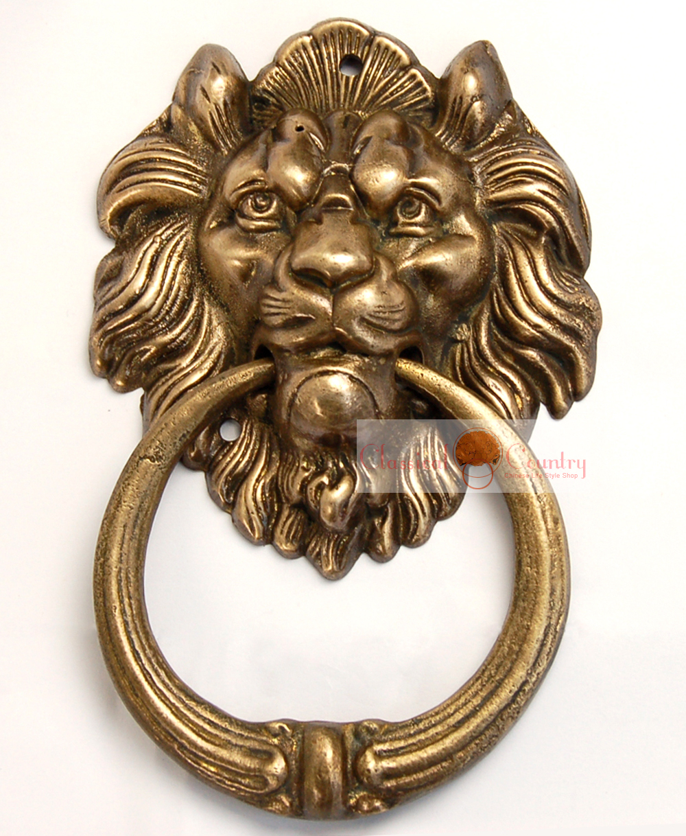 Brass pull door handles Long Lion Gate Knocker Brass Handle Chinese Brass Hardware Door Ring Pull Copper Brass Pull Knocker 728 Artfirecom Lion Gate Knocker Brass Handle Chinese Brass Hardware Door Ring Pull