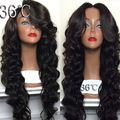 30 Inch Mongolian Human Hair Full Lace Wig And Lace Front Wig Natrural Color Wave With Baby Hair 180 Density For Black Women
