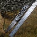 Cuchillos de la serie TwoSun M390 con mango de titanio ahuecado, cuchillos plegables de bolsillo