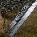 TwoSun Serie Messen M390 Blade Uitgeholde Titanium handvat een effen Flipper Pocket Zakmessen